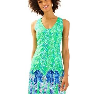 NWT LILLY PULITZER TANDIE SHIFT TOUCAN GREEN COSTA VERDE ENGNEERED SZ 6
